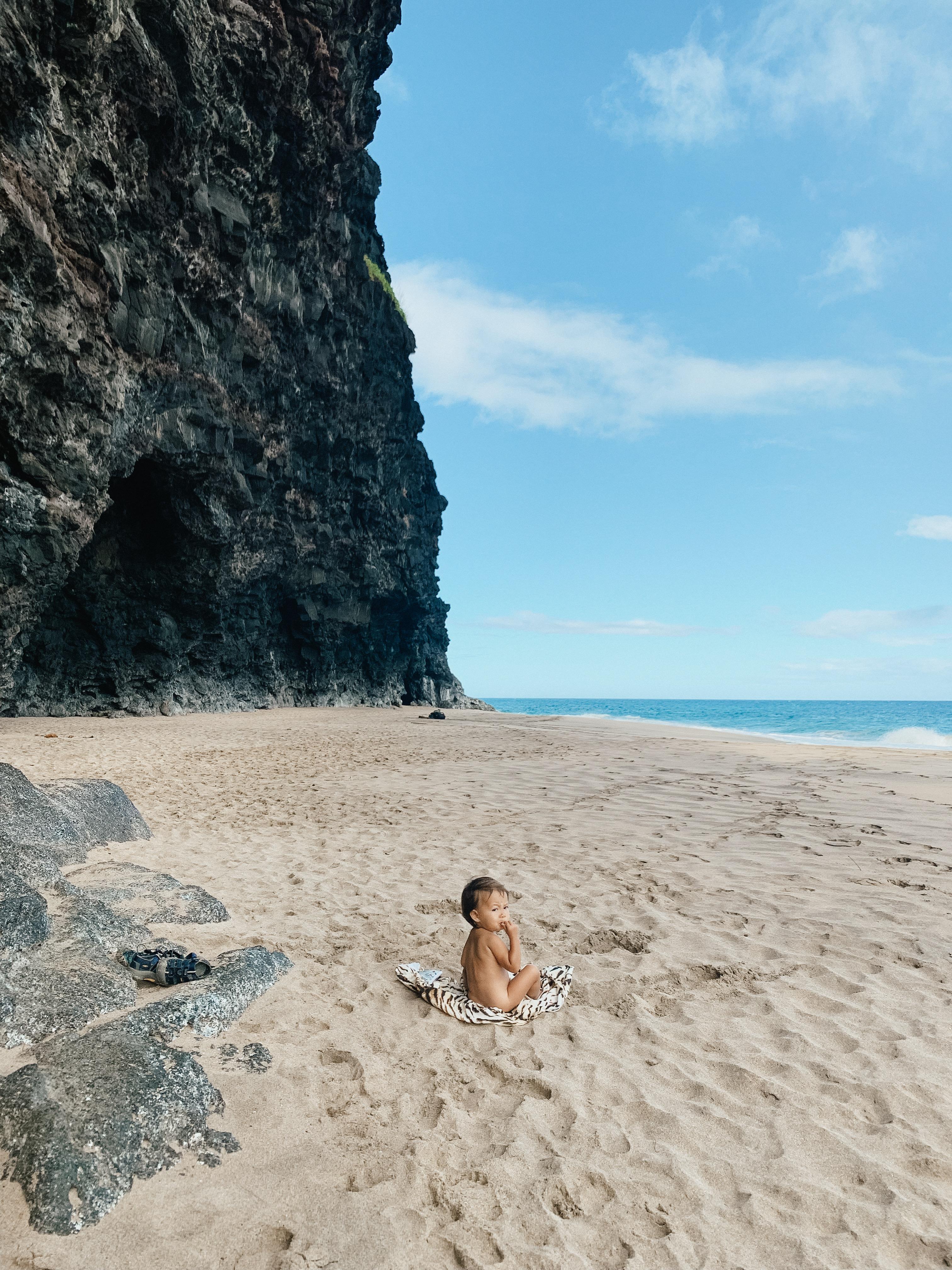 Kauai With Kids Hike To Hanakapiai Beach These Wild Days